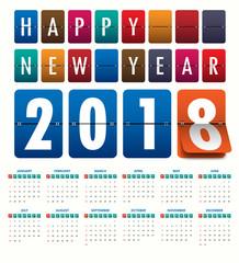 2018 Modern calendar template .Vector/illustration