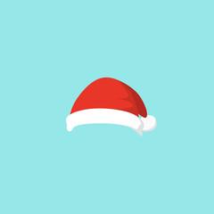 Vector illustration of set of Santa Hats in cartoon design.