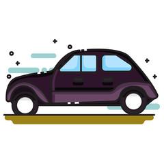 classic car icon set