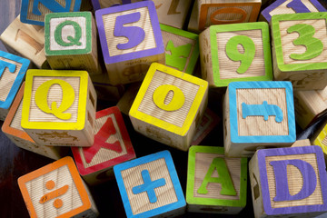 Wooden Letter Blocks.
