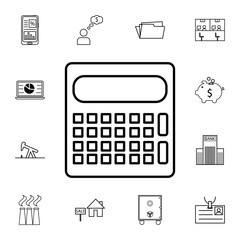 calculator icon. Set of business element. Premium quality graphic design. Signs, outline symbols collection, simple thin line icon for websites, web design, mobile app