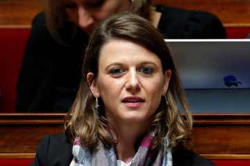 "Member of french parliament Laurianne Rossi of ""La Republique en Marche"" political party attends the questions to the government session at the National Assembly in Paris"