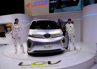 Toyota Auto Body's LCV D-Cargo concept model is displayed at the 45th Tokyo Motor Show in Tokyo