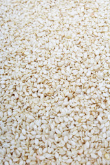 Sesame seed texture. Sesame seeds pattern as background. Seed grains.
