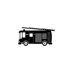 Fire truck icon. Illustration of transport elements. Premium quality graphic design icon. Simple icon for websites, web design, mobile app, info graphics