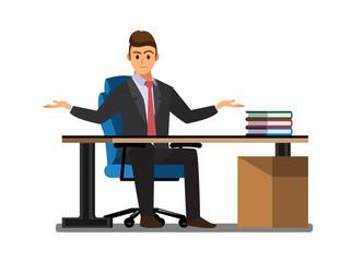Business People  Desk,Vector illustration cartoon character