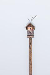 Birdhouse on a white background