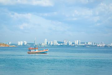 Fishing boat in Pattaya Thailand