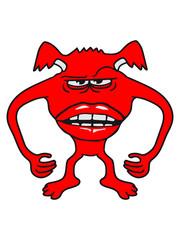 frau lustig mund lippen girl mädchen gefährlich gnom frech klein monster horror halloween böse ork troll comic cartoon clipart
