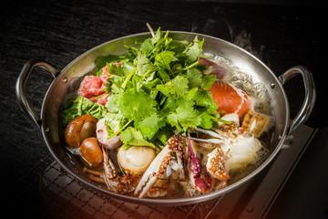 シーフードパクチー鍋 Vietnamese seafood coriander pot