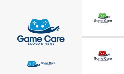 Game Care logo designs vector, Game Controller logo template