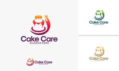 Cake Care logo designs vector, Food Care logo template