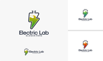 Electricity Laboratory logo designs vector, Electricity Research logo template