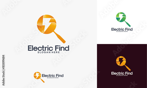 Find Electricity logo designs vector, Electricity Finder