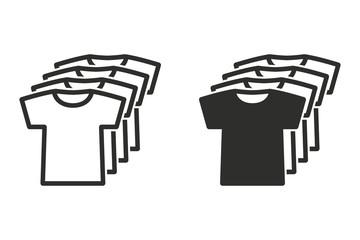 T-shirt vector icon.