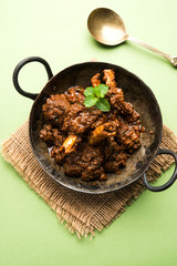 Bhuna  Mutton / Bhuna Gosht / Indian lamb curry