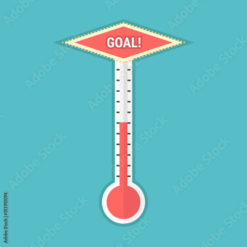 goal thermometer stock image and royalty free vector files on