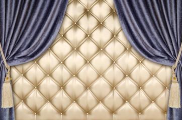 golden upholstery velvet curtain background