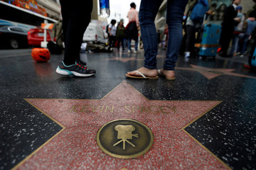The star of actor Spacey is pictured on the Hollywood Walk of Fame in Los Angeles