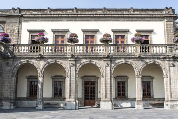 Facade of the Castillo de Chapultepec castle in Mexico City, Mexico, North America
