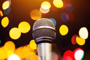 Audio microphone in karaoke bar