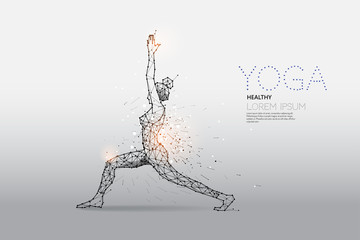 The particles, geometric art, line and dot of Yoga