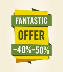 Fantastic Offer Sale Clearance Vector Illustration