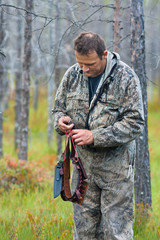 hunter with bandolier