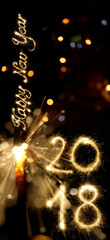 Sparkler New Year 2018