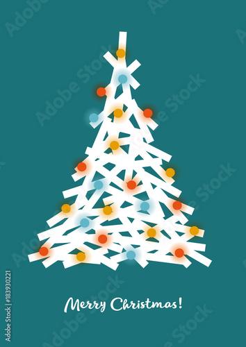 Weihnachtsgrüße Englisch.Weihnachtsbaum Grafik Weihnachtsgruß Geometrische Formen