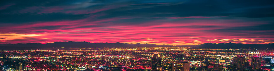 Printed roller blinds Las Vegas early morning sunrise over valley of fire and las vegas