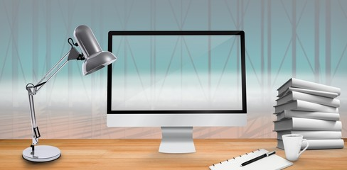 Composite image of image of a virtual desk
