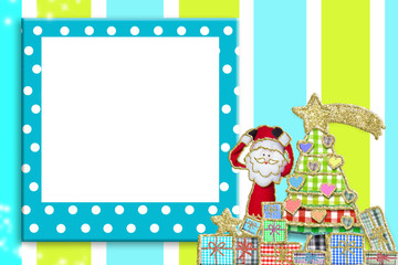 Christmas picture frame for children or babies