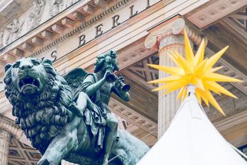 Sculpture. Neue Kirche, also Deutscher Dom in Berlin, Germany.