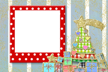 Christmas frame for children greeting card