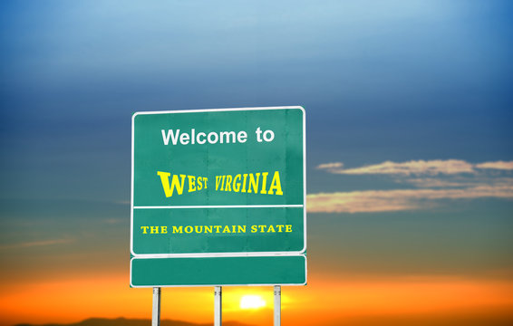 West Virginia, Welcome road sign