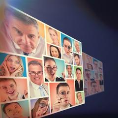 People collage portrait 4x4