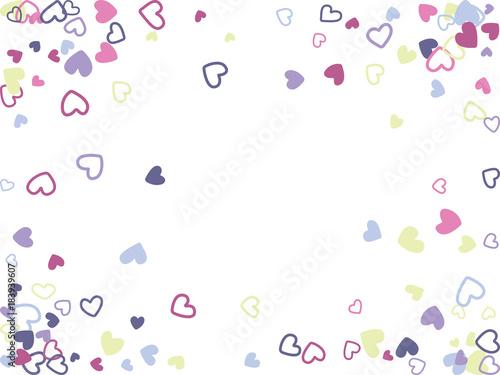 Doodle Heart Border Vector Pattern Background Frame Illustration