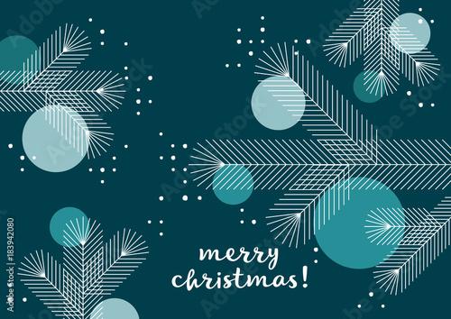 Weihnachtsbaum mit kugeln grafik weihnachtsgru geometrische formen englisch stockfotos - Weihnachtsbaum englisch ...