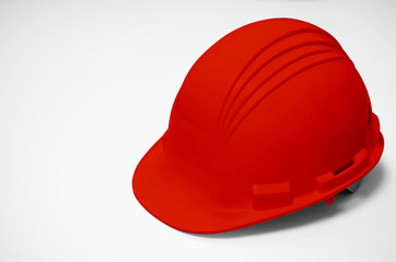 Red helmet isolated.