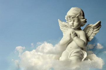 Angel guardian on the cloud Wall mural