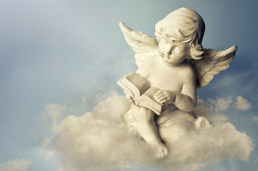 Angel on the cloud