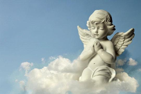 Angel guardian on the cloud