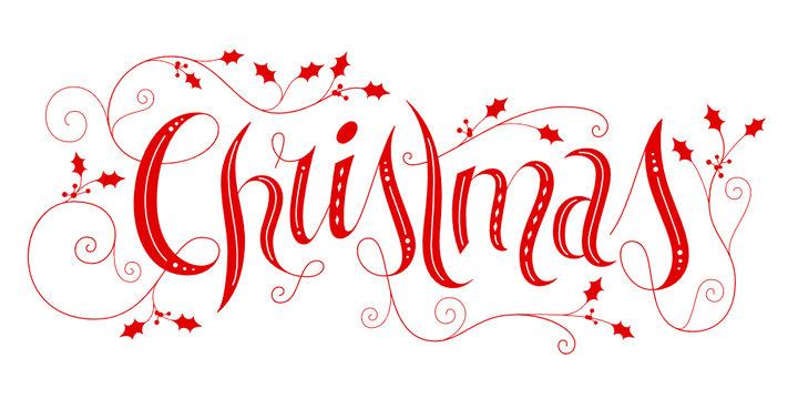 """Ornate hand lettering """"Christmas"""""""