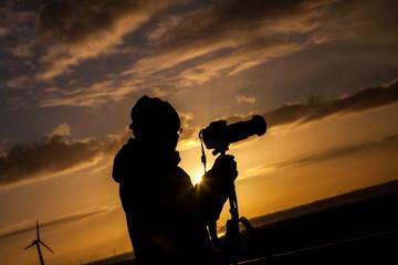 Silhouette eines Fotografen