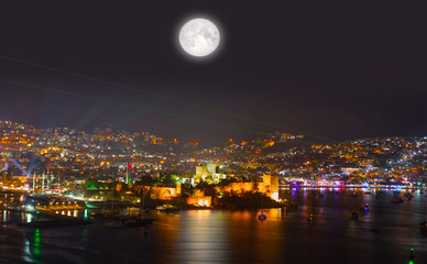 """Aerial view of Bodrum on Turkish Riviera.""""Elements of this image furnished by NASA"""""""