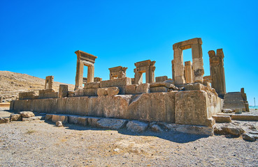 The ruins of Tachara, Persepolis, Iran