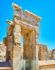 Remains of stone gate, Persepolis, Iran