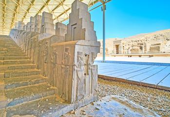 The East Stairs of Apadana, Persepolis, Iran