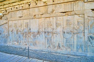 Relief of Immortals in Persepolis, Iran